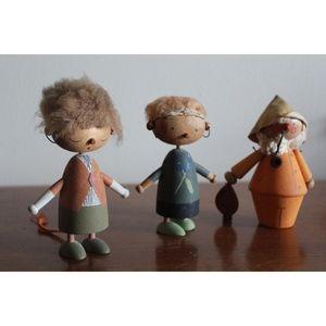 Cute Hand Painted Swedish Kid's Figurines